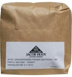 Jacob Hooy Druivensuiker poeder 1 kg | € 4.34 | Superfoodstore.nl