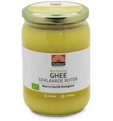 Mattisson Ghee geklaarde boter 500 gram | Superfoodstore.nl