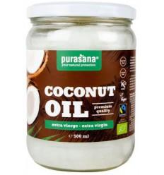Purasana Kokosolie extra virgin bio 500 ml | Superfoodstore.nl