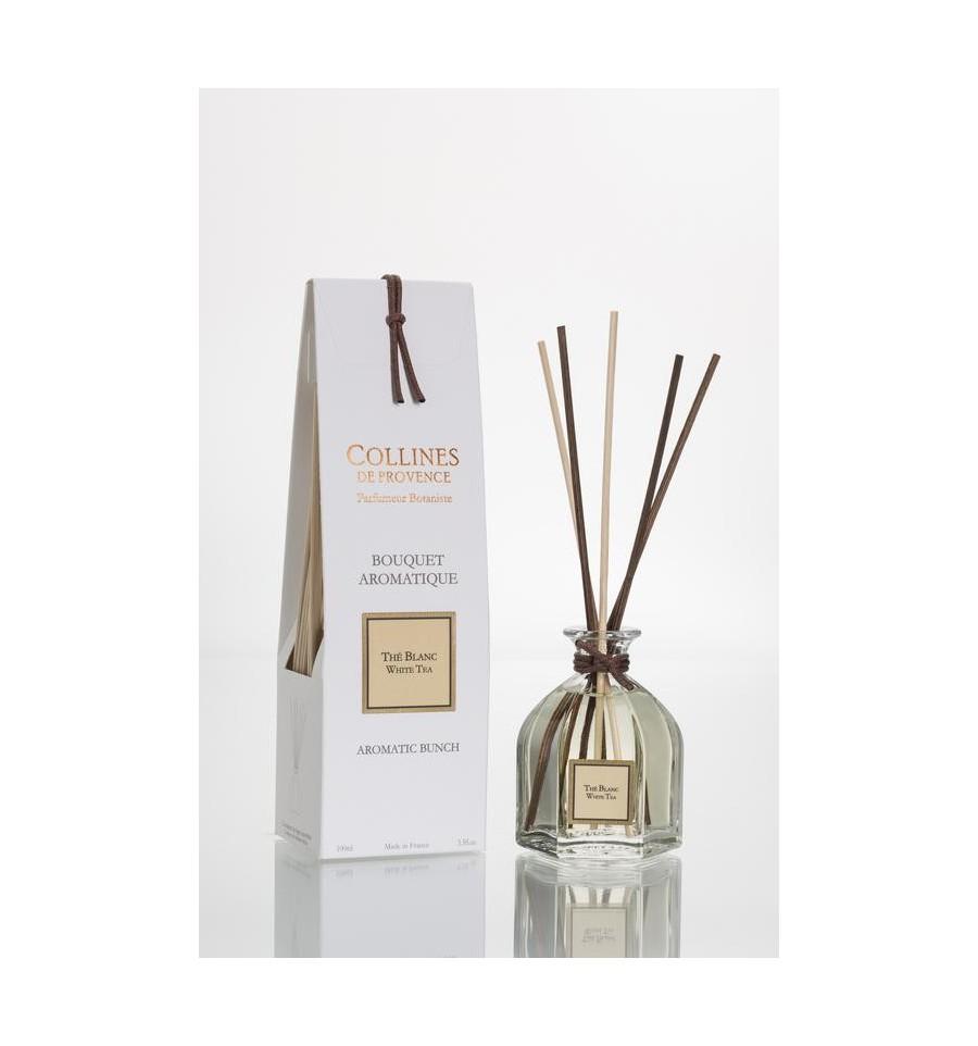 Collines de Provence Geurstokjes witte thee 100 ml
