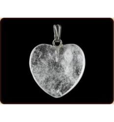 Ruben Robijn Hanger hart 20 mm bergkristal   Superfoodstore.nl