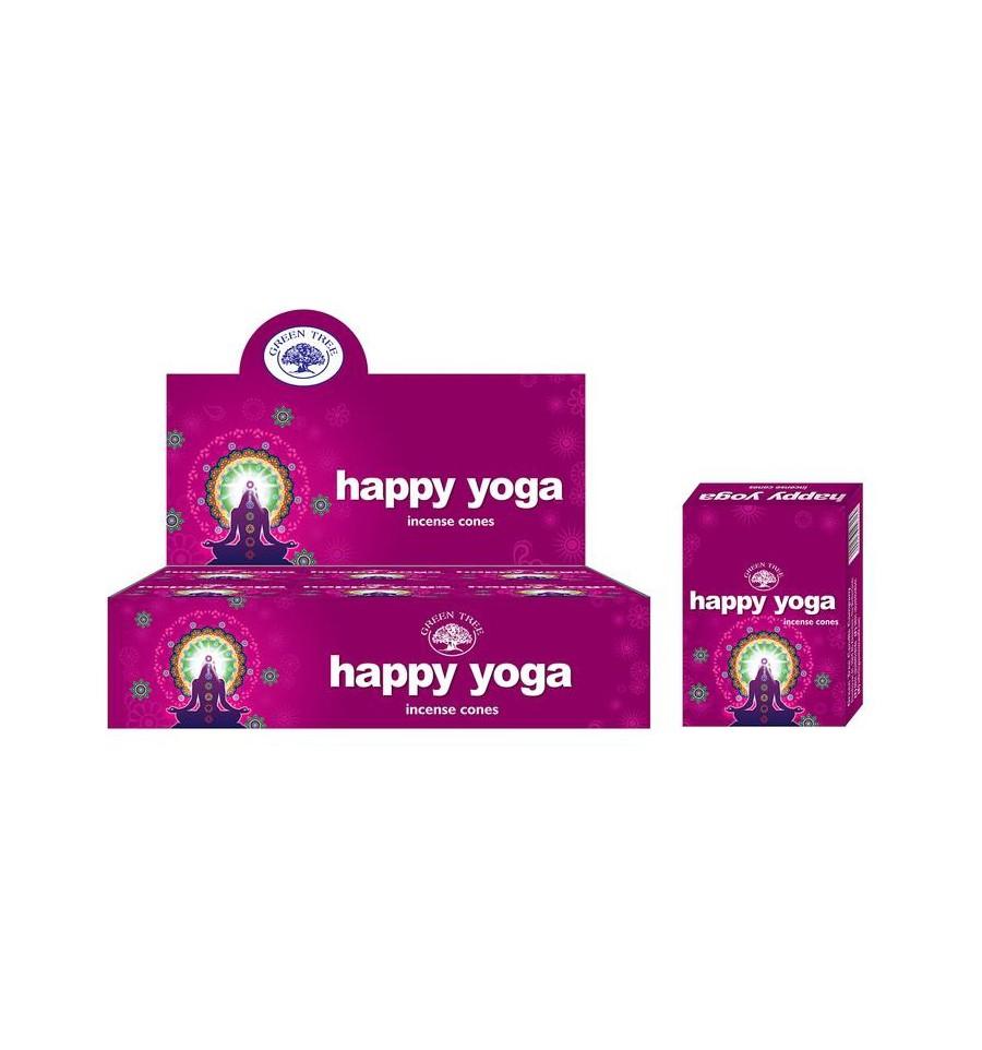 Green Tree Kegelwierook happy yoga 10 stuks
