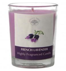 Green Tree Geurkaars french lavender 55 gram | Superfoodstore.nl