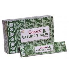 Goloka Wierook goloka natures basil 15 gram | Superfoodstore.nl