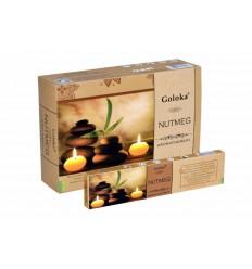 Goloka Wierook goloka aromatherapy nutmeg 15 gram   € 1.37   Superfoodstore.nl