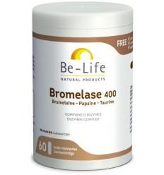 Be-Life Bromelase 400 60 softgels | € 18.47 | Superfoodstore.nl