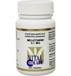Nachtrust Vital Cell Life Melatonine 0.1 mg 500 tabletten kopen