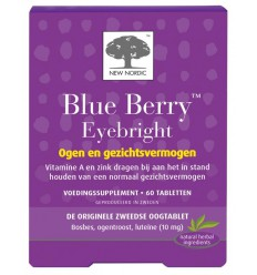 New Nordic Blue berry eyebright 60 tabletten | € 25.09 | Superfoodstore.nl