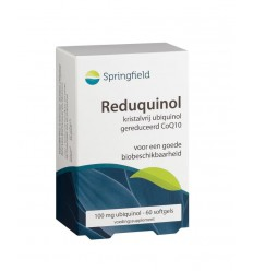 Springfield Reduquinol 100 mg 60 softgels | € 37.65 | Superfoodstore.nl