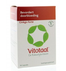 Vitotaal Ginkgo forte 90 capsules | € 19.10 | Superfoodstore.nl