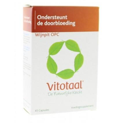 Vitotaal Wijnpit OPC 45 capsules | Superfoodstore.nl