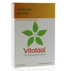 Vitotaal Siberische ginseng 45 capsules | € 9.14 | Superfoodstore.nl