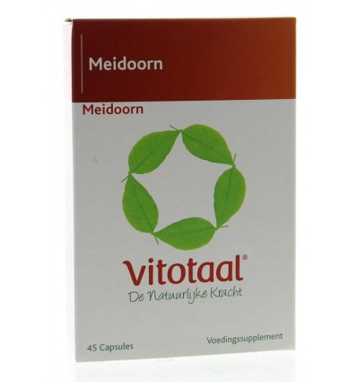 Vitotaal Meidoorn 45 capsules | Superfoodstore.nl