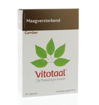Vitotaal Gember 45 capsules | Superfoodstore.nl