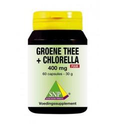 Chlorella SNP Groene thee chlorella 400 mg puur 60 capsules