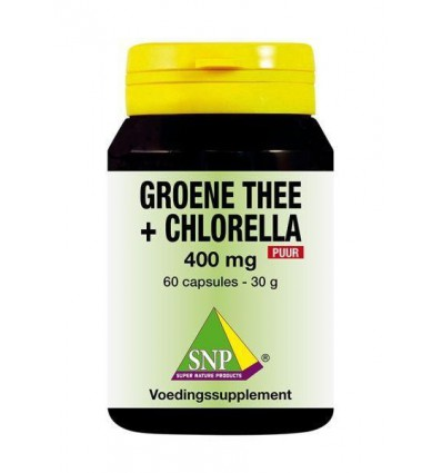 SNP Groene thee chlorella 400 mg puur 60 capsules
