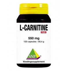 SNP L Carnitine 550 mg puur 120 capsules | Superfoodstore.nl