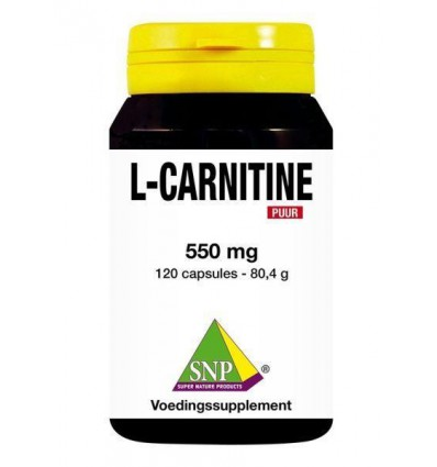 SNP L Carnitine 550 mg puur 120 capsules | € 83.49 | Superfoodstore.nl