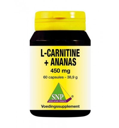 SNP L Carnitine ananas 450 mg 60 capsules | Superfoodstore.nl