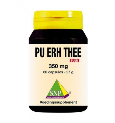 SNP Pu erh thee 350 mg puur 60 capsules | € 13.69 | Superfoodstore.nl