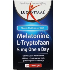 Lucovitaal Melatonine L-tryptofaan 5 mg 30 tabletten | € 4.44 | Superfoodstore.nl