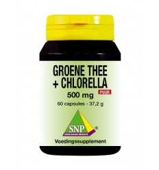SNP Groene thee chlorella 500 mg puur 60 capsules   € 25.26   Superfoodstore.nl