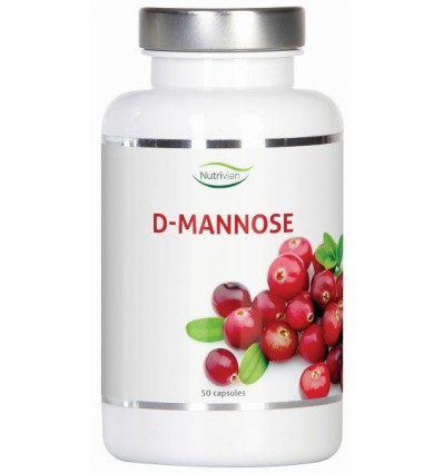 Nutrivian D-Mannose 500 mg 50 capsules | € 17.75 | Superfoodstore.nl
