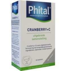 Phital Cranberry + C 60 tabletten | Superfoodstore.nl