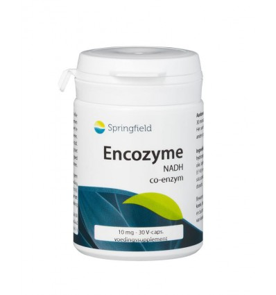 Springfield Encozyme NADH 10 mg 30 capsules | € 25.26 | Superfoodstore.nl