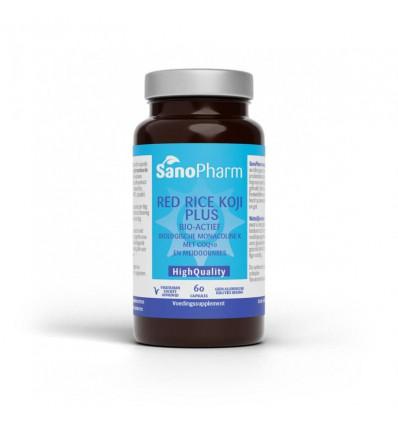 Sanopharm Red rice koji plus high quality 60 capsules  