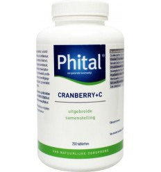 Phital Cranberry + C 250 tabletten | Superfoodstore.nl