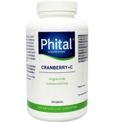 Phital Cranberry + C 250 tabletten | € 52.59 | Superfoodstore.nl