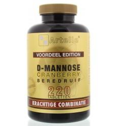 Artelle D-Mannose cranberry beredruif 220 tabletten | € 36.49 | Superfoodstore.nl