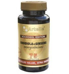 Artelle Rhodiola ginseng energiebalans 75 capsules |