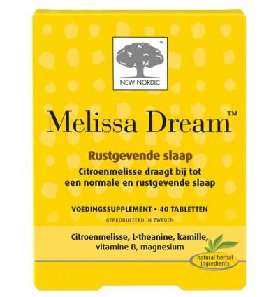Magnesium New Nordic Melissa dream 40 tabletten kopen