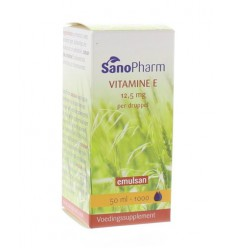Sanopharm Vitamine E Emulsan 50 ml | € 15.79 | Superfoodstore.nl