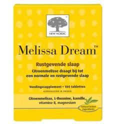 New Nordic Melissa dream 100 tabletten | Superfoodstore.nl
