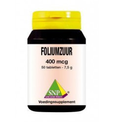 SNP Foliumzuur 400 mcg 50 tabletten | Superfoodstore.nl