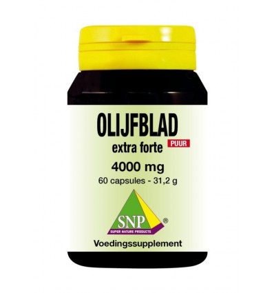 SNP Olijfblad extract extra forte puur 60 capsules | € 34.10 | Superfoodstore.nl