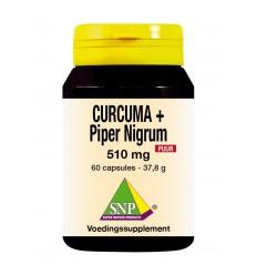 SNP Curcuma & piper nigrum 510 mg puur 60 capsules | € 42.99 | Superfoodstore.nl