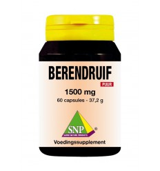 SNP Berendruif 1500 mg puur 60 capsules | € 22.58 | Superfoodstore.nl
