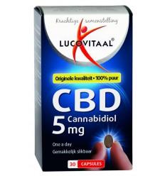 Lucovitaal Cannabidiol CBD 5 mg 30 capsules | Superfoodstore.nl