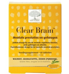New Nordic Clear brain 60 tabletten | Superfoodstore.nl