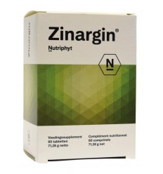 Nutriphyt Zinargin 60 tabletten | € 24.29 | Superfoodstore.nl