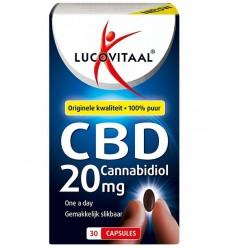Lucovitaal Cannabidiol CBD 20 mg 30 capsules | Superfoodstore.nl