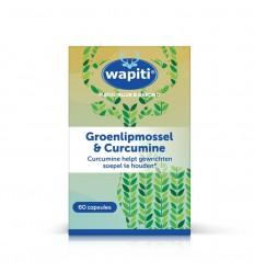 Wapiti Groenlipmossel & curcuma 60 capsules | Superfoodstore.nl