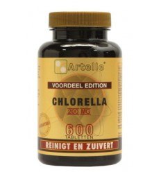 Artelle Chlorella 200 mg 600 tabletten   € 23.09   Superfoodstore.nl