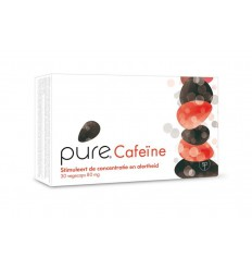 Pure cafeine 80 mg 30 vcaps | € 11.59 | Superfoodstore.nl