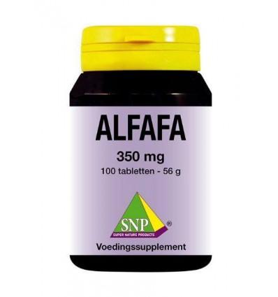 SNP Alfalfa 350 mg 100 tabletten | Superfoodstore.nl