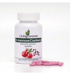 Livinggreens Cranberry met D Mannose 120 tabletten |